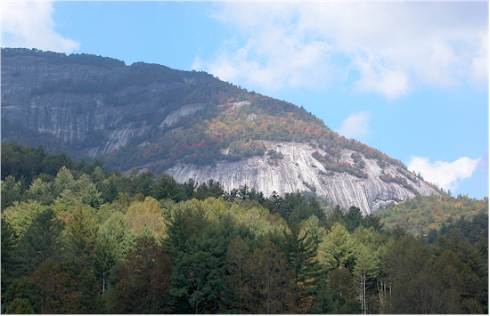 Whiteside Mountain Cliffs - View From Whiteside Cove Rd. Photo: Jim Lewicki